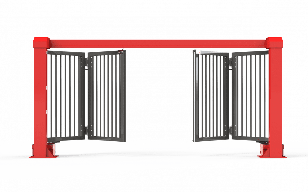 D6600 Top Guided Duty Bi-Folding Gates
